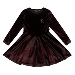 Load image into Gallery viewer, Red Velvet Waisted Dress