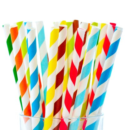 "SLUSH Straws 9"" Unwrapped Paper Straws-Cups & Straws-AB Distribution Bubble Tea"
