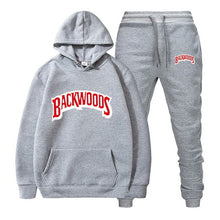 Load image into Gallery viewer, fashion brand Backwoods Men's Set Fleece Hoodie Pant Thick Warm Tracksuit Sportswear Hooded Track Suits Male Sweatsuit Tracksuit