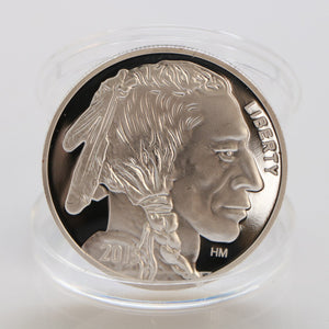 2015 Indian/Buffalo Coin BU 1 oz .999 Silver Plated Round-LIMITED USA MADE AMERICAN COINS Drop Shipping