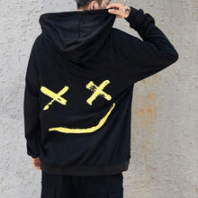 Load image into Gallery viewer, Men Smile Hoodies 2019 Winter Hip Hop Print Oversized Sweatshirts Fashion Patchwork Unisex Couple Streetwear Men Women Hoodies