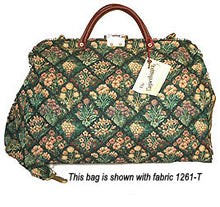 Load image into Gallery viewer, Modern Carpetbag with Shoulder Strap          Weekender--Carry On