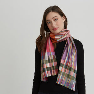 WALLACE+SEWELL - SILK SCARF - SANDRO - FLORAL PINKS