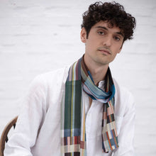 Load image into Gallery viewer, WALLACE+SEWELL - SILK SCARF - SANDRO - DEEPSEA