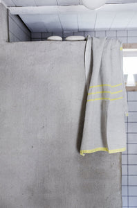 LAPUAN - USVA LINEN TOWEL. NATURAL+YELLOW