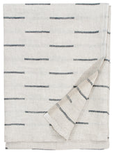 Load image into Gallery viewer, LAPUAN - PAUSSI LINEN KING BATH TOWEL. DARK GREY+NATURAL