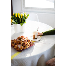 Load image into Gallery viewer, LAPUAN - USVA LINEN BLANKET / TABLECLOTH. NATURAL+YELLOW