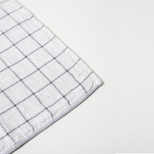 KONTEX - GRAPH ORGANIC COTTON TOWEL. GREY + NAVY