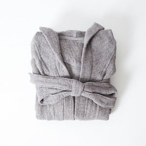KONTEX - LANA ORGANIC COTTON BATHROBE. GREY
