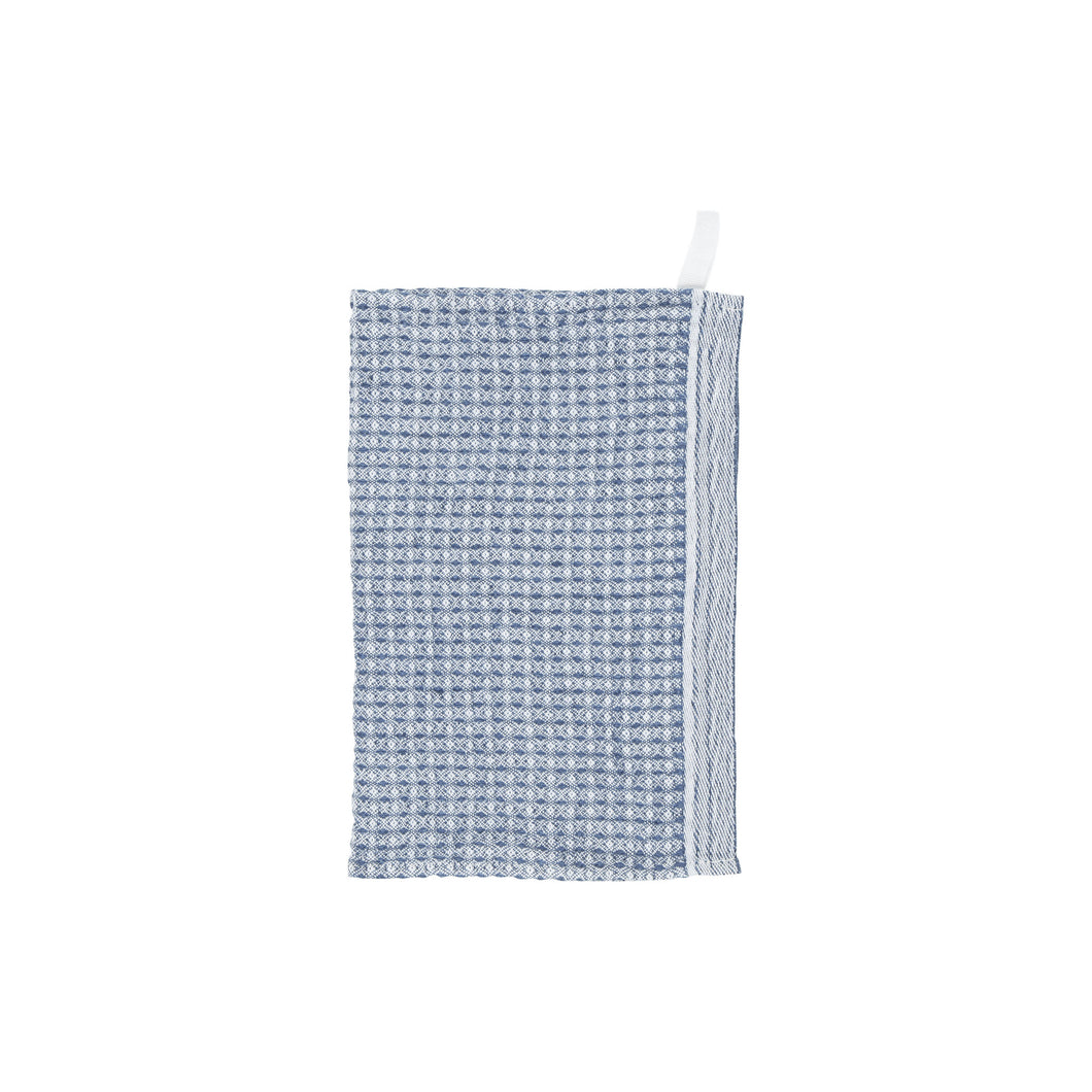 LAPUAN - MAIJA LINEN FACE TOWEL. RAINY BLUE