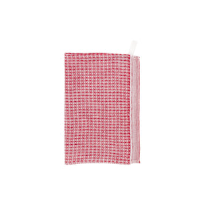 LAPUAN - MAIJA LINEN FACE TOWEL. RED
