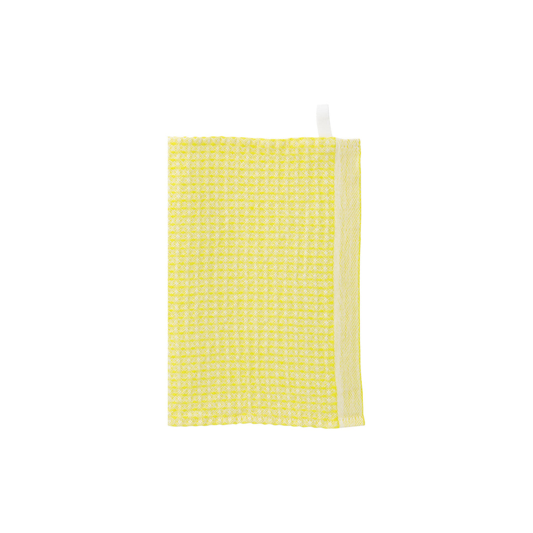 LAPUAN - MAIJA LINEN FACE TOWEL. BRIGHT YELLOW
