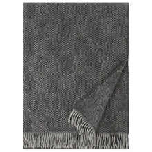 Load image into Gallery viewer, LAPUAN - MARIA WOOL BLANKET. BLACK