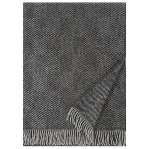 LAPUAN - MARIA WOOL BLANKET. BLACK
