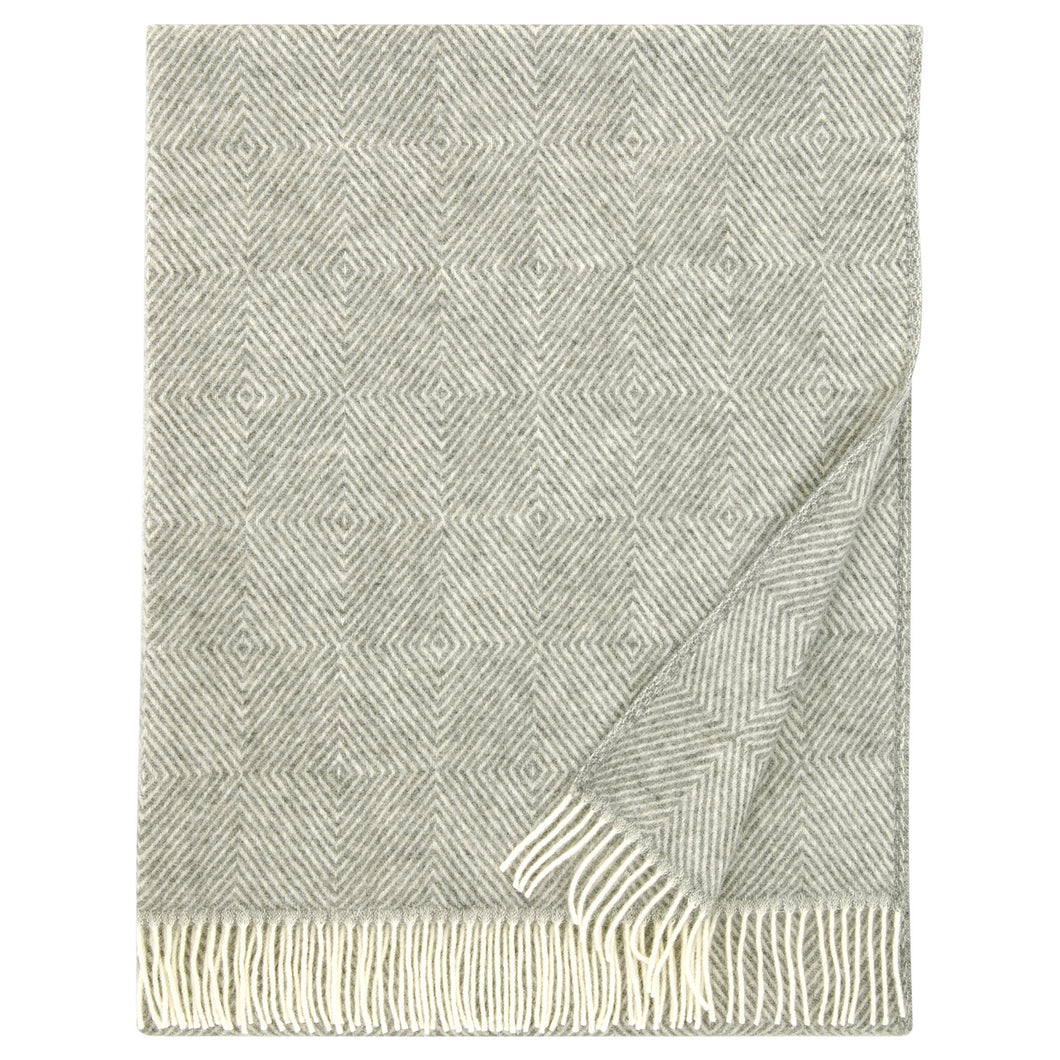 LAPUAN - MARIA WOOL BLANKET. GREY