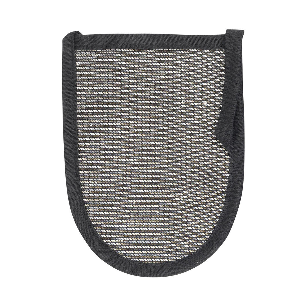 LAPUAN  - ONNI LINEN TERRY WASH MITTEN. BLACK+GRAPHITE
