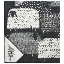 Load image into Gallery viewer, LAPUAN - PAKAPAAT WOOL BLANKET. BLACK