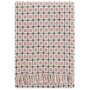 LAPUAN - LAMBSWOOL BLANKET. ROSE