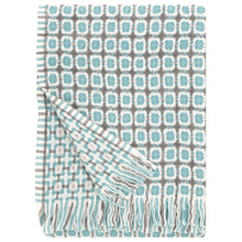 Load image into Gallery viewer, LAPUAN - LAMBSWOOL BLANKET. TURQUOISE