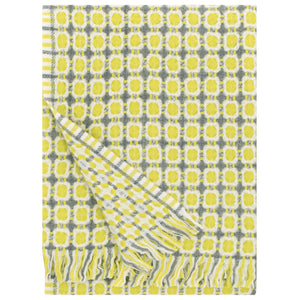 LAPUAN - LAMBSWOOL BLANKET. YELLOW