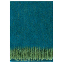 Load image into Gallery viewer, LAPUAN - REVONTULI MOHAIR BLANKET. BLUE + GREEN