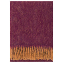 Load image into Gallery viewer, LAPUAN - REVONTULI MOHAIR BLANKET. BORDEAUX