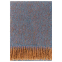 Load image into Gallery viewer, LAPUAN - REVONTULI MOHAIR BLANKET. DENIM BLUE