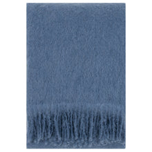 Load image into Gallery viewer, LAPUAN - SAAGA UNI MOHAIR BLANKET. BLUE