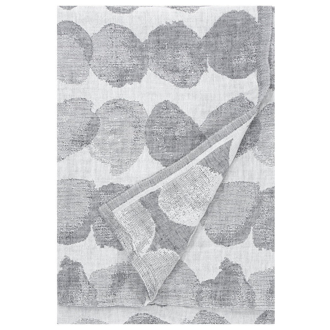 LAPUAN - SADE LINEN KING SIZE BATH TOWEL. GREY