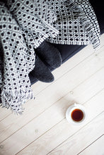 Load image into Gallery viewer, LAPUAN - LAMBSWOOL BLANKET. BLACK