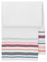 Load image into Gallery viewer, LAPUAN - LEWA LINEN HAND TOWEL. GREY+BORDEAUX