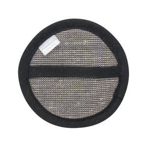 LAPUAN  - ONNI LINEN TERRY COSMETIC SPONGE - BLACK + NATURAL