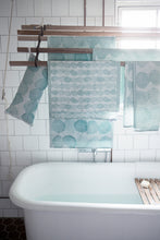 Load image into Gallery viewer, LAPUAN - SADE LINEN KING SIZE BATH TOWEL. TURQUOISE