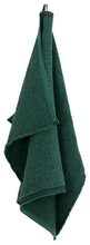 Load image into Gallery viewer, LAPUAN - TERVA WAFFLE TOWEL. BLACK+FOREST GREEN