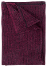 Load image into Gallery viewer, LAPUAN - TERVA WAFFLE TOWEL. BLACK+BURGUNDY