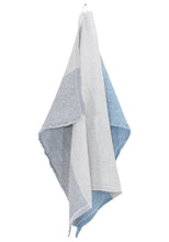 Load image into Gallery viewer, LAPUAN - TERVA LINEN TOWEL. SKY BLUE+MULTI STRIPE