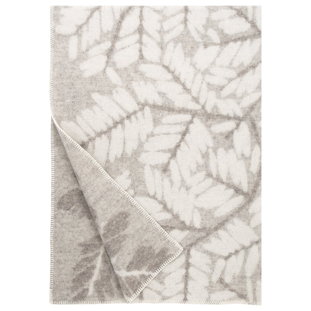 LAPUAN - VERSO WOOL BLANKET. NATURAL