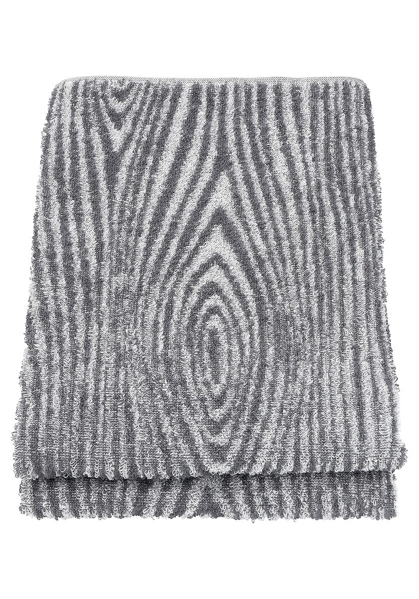 LAPUAN  - VIILU LINEN TERRY TOWEL. GREY