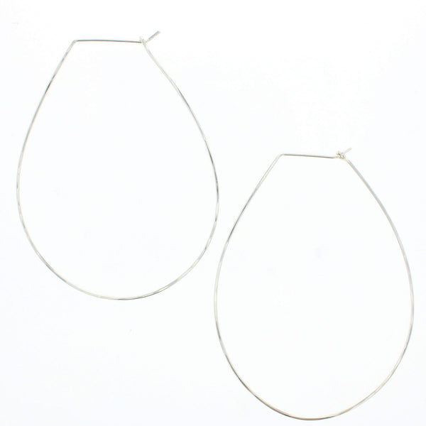 Pear Hoop Earrings