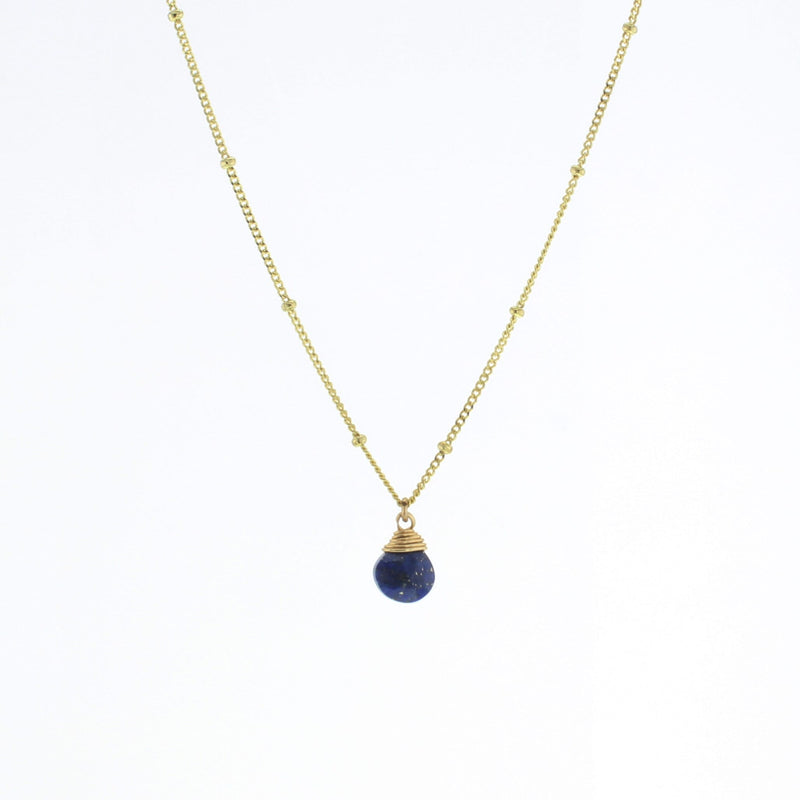 Gold Trinket Stone Necklace- New Colors!