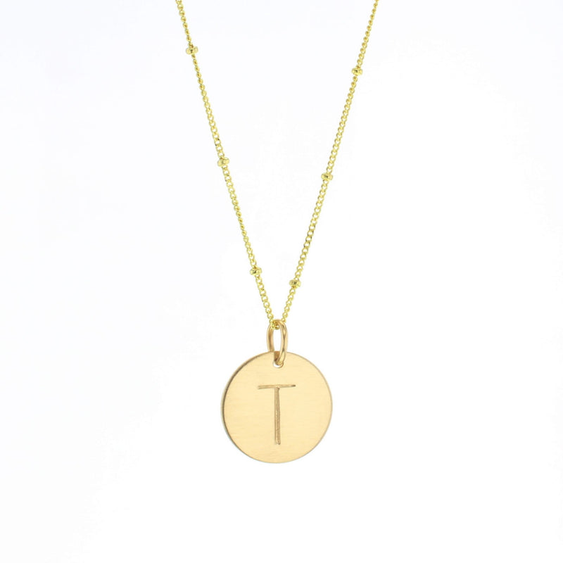 Round Letter Necklace