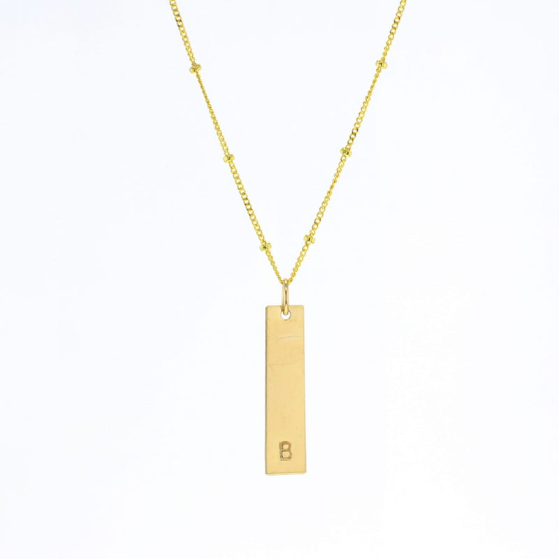 Bar Letter Necklace