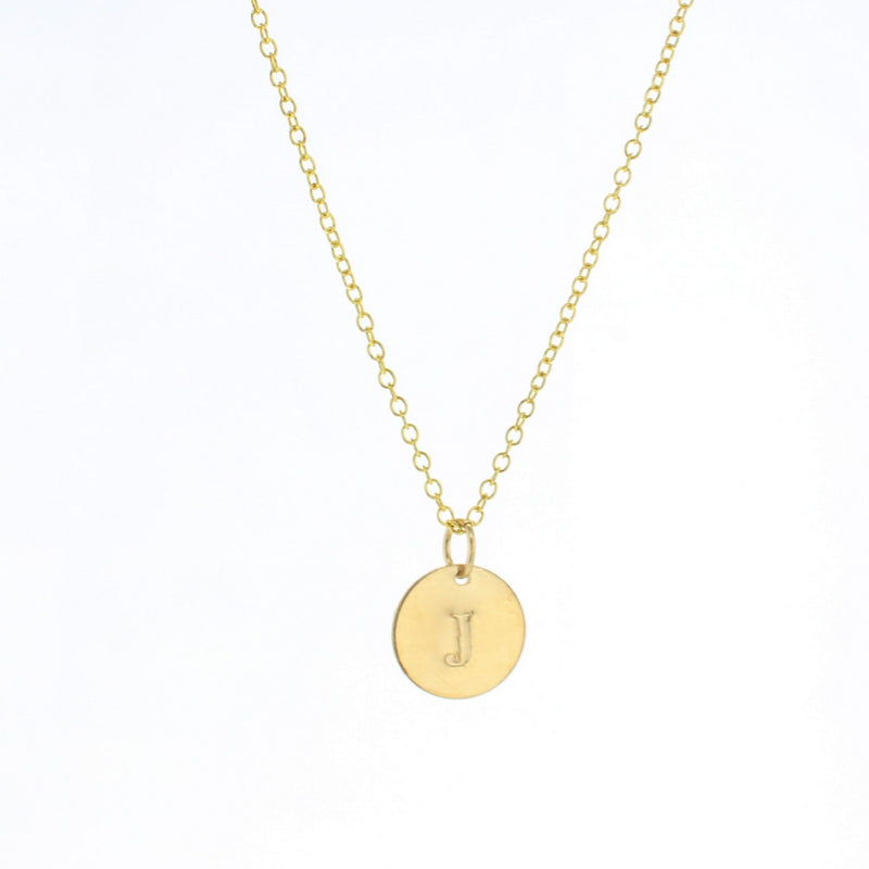 Token Letter Necklace