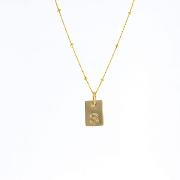 Rectangle Letter Necklace