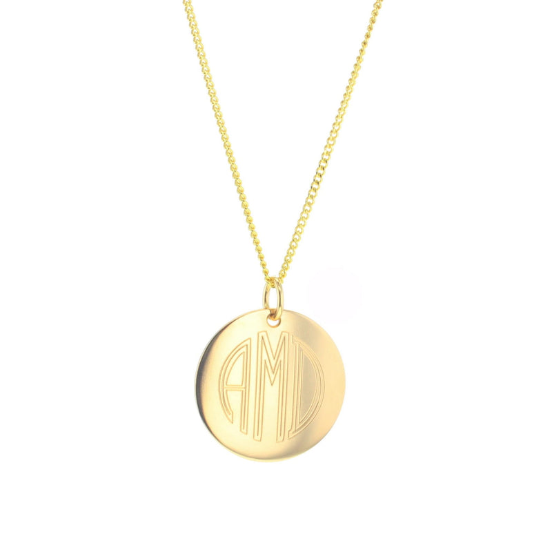 Modern Monogram Necklace