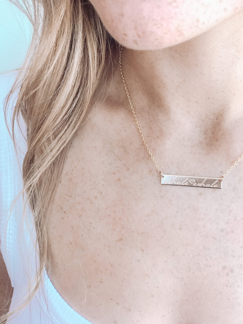 Inhale ❤ Exhale Necklace