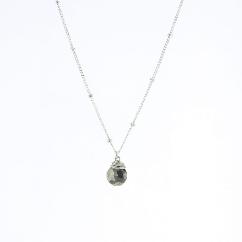 Silver Trinket Stone Necklace