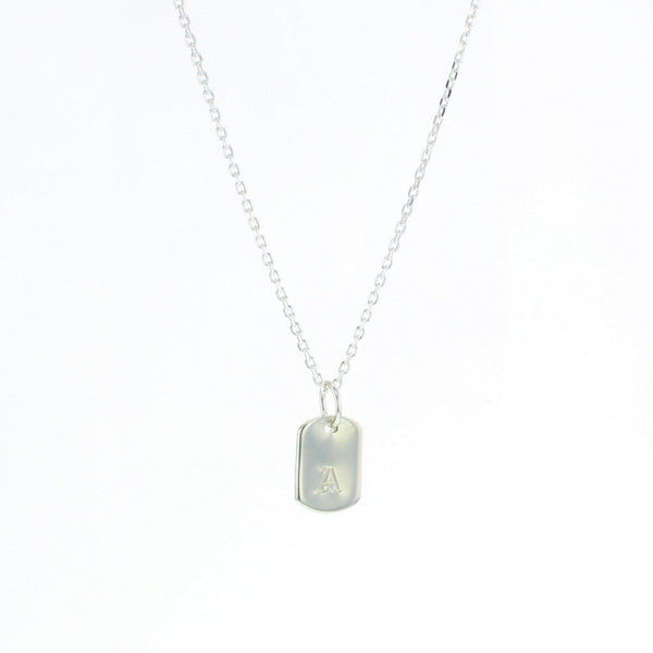 Dog Tag Letter Necklace
