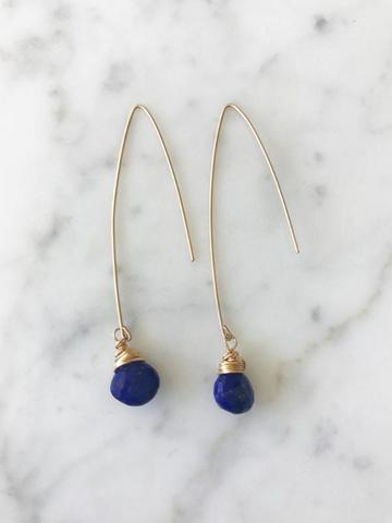 JILL DROP EARRING  Blue Saphire