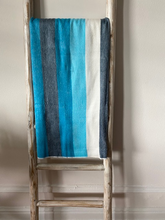 Load image into Gallery viewer, ALPACA THROW BLANKET Turquoise